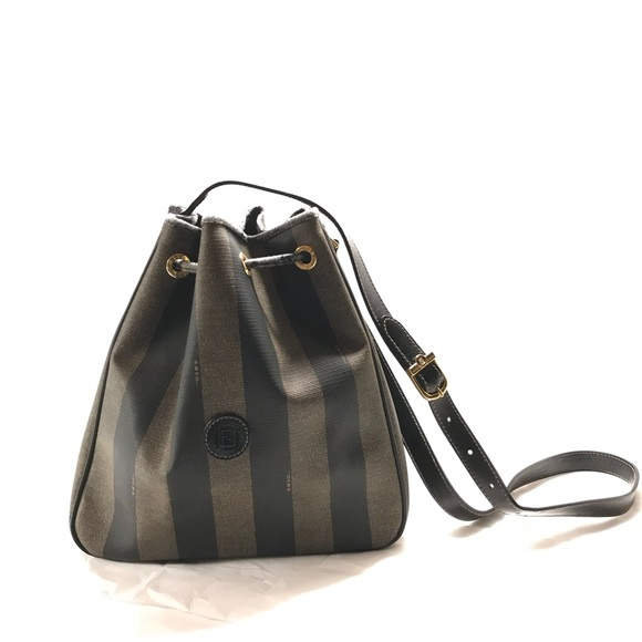 3682e42d3cdc FENDI Handbags - FENDI Authentic Vintage Penguin Stripe Bucket Bag